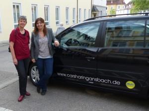 Ekin Deligöz testes das Ansbacher CarSharing